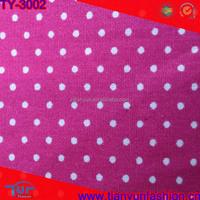 polk dot design reactive printing plain woven cambric cotton fabric
