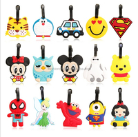 PVC cartoon name tag name card luggage tag rubber soft PVC luggage tag