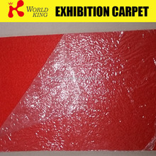 Most popular red color exhibition carpet with plastic film bag