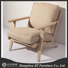 French Style Provincial accent living room wooden armchair with coushion