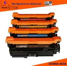 Hot Sale Compatible Toner Cartridge For HP 500 M551 (CE400A CE401A CE402A CE403A) Toner For Enterprise 500, M551