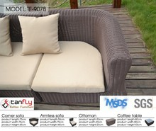 overstock rattan furniture corner round rattan sofa set
