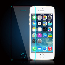 Cell phone tempered glass for iPhone 5 2.5D 9H Anti-knock Screen Protector