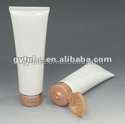 2014 hot clear new cosmetic plastic tubes with special sealing shape