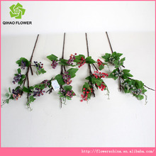 5 teste uve cesto di fiori artificiali bouquet di fiori artificiali in plastica