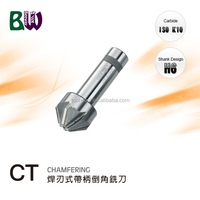 Brazed Tungsten Carbide Chamfering Milling Cutters For Face Milling