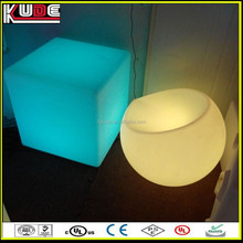 indoor decoration LED light plastic cube table for bedside