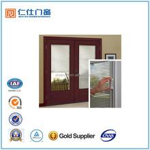 Renshi Brand certificated energy saving aluminum durable Casement cheap window with blinds between glass