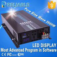 Most Advanced LED Display 3500W PURE SINE WAVE INVERTER (12V/24V/48VDC to 220VAC/120V 7KW/7000W PEAK),DC To AC inverter hubperfe