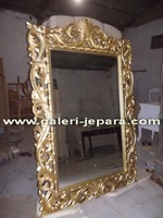 Indonesia Furniture - Wood Carved Mirror Frame - Mahogany Furniture