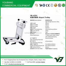 2015 New best selling 3 wheels aluminum alloy hand brake airport passenger baggage trolley (YB-AT01)