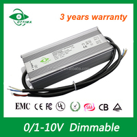 0-10v dimmable 100w led driver power supply IP67 12v led strip power supply good sell in European market
