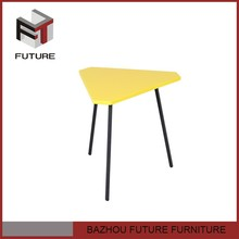 colorful environmental friendly high gloss MDF corner end coffee table
