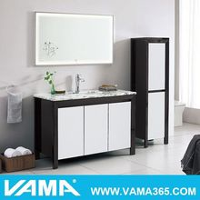 Decorative Wall Wood Shelves Free Standing Modern Bathroom Cabinet