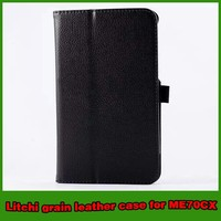 Hot selling leather stand tablet case for asus memo pad 7 ME70CX
