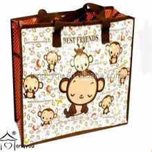 Cute design non woven shopping bag foldable non woven bag
