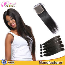 Factory price 16 inches straight indian remy hair extensions