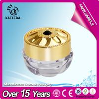 10ml empty custom made nail polish bottle with golden cap