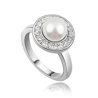 free shipping wholesale fashion wedding freshwater pearl ring designs