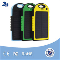 Factory Directly Solar Power Bank 5000mAh Waterproof Solar Charger with Dual USB