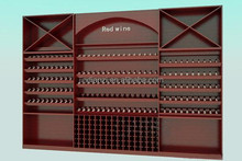 red wine retail store wine bottle shelf