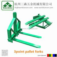 3point hitch Pallet Forks, round hay forks loader