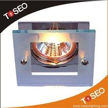 square glass halogen recessed downlight