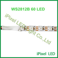 ws2812b LED strip light 5m 60leds/m white PCB waterproof in silicon IP65