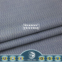 2014 New Arrival Poplin Fabric Poly Cotton Blue and White Striped