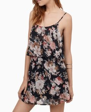 Custom design china factory floral printed fashion latest dress designs for girls