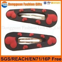 Topsale metal hair pins for girls kids hair clip, custom cartoon made hair clip for baby girls, plastic baby hair clip for girls
