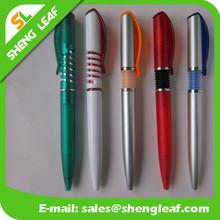Spiral pen popular high quality plastic pen promotional click pen