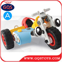 Intelligence build & play plastic 3d models toy car assembly building block