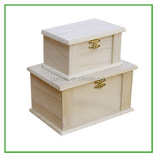 Rectangular Plain Wooden Packaging Box