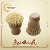 Beech wooden stamp handle with tampico firbe flower kitchen dish washing brush and pan brush