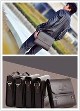 2015 Hot Sold Men Messenger bag Men HandbagsTop PU Leather polo Bag Fashion Crossbody Bags