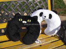 new design cute cheap soft pillow panda animal Cuddle-U cushion