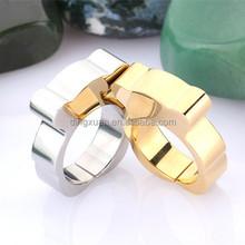 2015 latest bear design silver ring designs men's gay ring