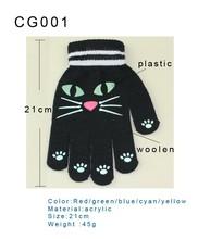 Wholesale color warm changing led finger glove led glowing gloves