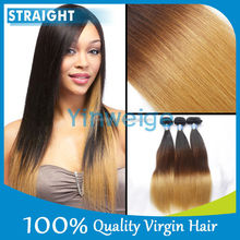 2015 NEW arrival ombre hair wave 100% virgin raw cheap brazilian hair weave