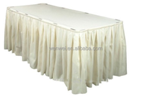 disposable peva ruffled curly willow table skirt
