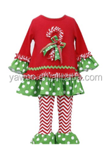 children wholesale boutique clothing girls fall clothing christmas green and red outfit kids clothes