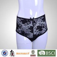 OEM Service Black Transparent Full Lace Sexy Ladies Panty