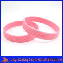 bulk cheap custom writting embossed silicone wristbands