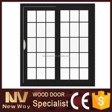 Porta dupla exterior pátio portas de vidro decorativo / usado de vidro deslizante com quadro
