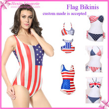 2015 ropa de playa Bikini de la bandera americana