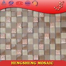 KS306 resin blending glass mosaic tile decoration of houses interior