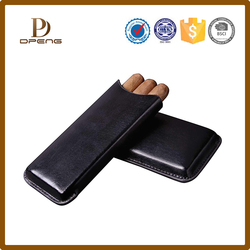 Custom new product 3 piece travel carrying leather cigar case