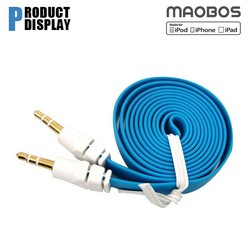 Flat 2 Tone AUX Cable 3.5mm jack For iphone ipod