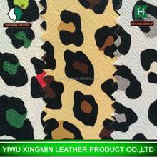 Color Leopard PVC leather